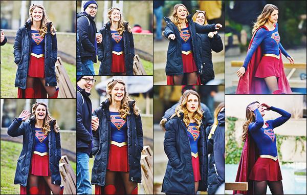 ► 24/02/17 ▬  Mélissa était sur le tournage de la saison 2 de la série Supergirl ▬ Vancouver  je trouve les photos magnifique, Mélissa est vraiment parfaite. Elle à l'air de s'éclater sur le tournage!
