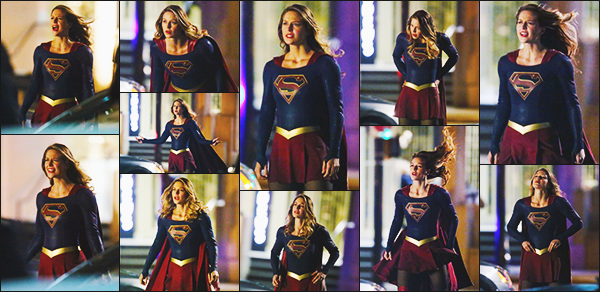 ► 06/01/17 ▬  Melissa était sur le tournage de la saison 2 de Supergirl à Vancouver ▬ Canada  On voit plus souvent Melissa dans son costume que autre chose, elle est très jolie comme d'habitude!