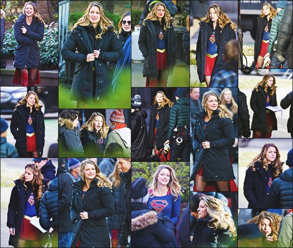 .05/01/17 ► Melissa était sur le tournage de la saison 2 de Supergirl à Vancouver au Canada Melissa à l'air de beaucoup s'amuser sur le tournage, la belle est toujours dans son beau costume rouge et bleu! un top, Vos Avis ? .
