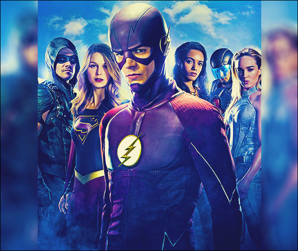 .08.07.17▬  Découvrez ce qui pourrait être le poster du prochain crossover de la chaîne CW  ▬ Supergirl  Ce poster n'est pas officiel pour le moment, en tout cas il est sublime. Je rappelle que le tournage de la saison 3 va commencer aujourd'hui ! Avis ? .