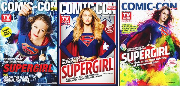 .12.07.17▬  Pour la troisième année consécutive Mél fait la couverture du mag Tv guide ▬ Comic Con  Le panel de Supergirl aura lieu le 22 juillet, elle sera en compagnie de ses co-stars et notamment Chris Wood, serait-il dans la saison 3 Avis ? .