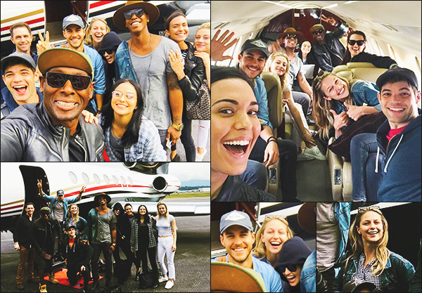 """. """"""""◈ 21/07/17 ◈""""""""-  Mélissa en direction de San Diego avec le cast de Riverdale et de Supergirl pour le Comic Con ! C'est partit pour un week end de folie et de photos, Melissa s'éclate dans l'avion avec ses amies, ils ont prit un jet privé direction San Diego! Vos Avis ? ."""