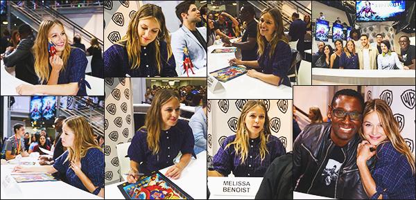 .22/07/17 ► Miss Benoist était au panel de Supergirl, dans la press room et aux autographes au Comic Con   Mélissa est plus que joyeuse et très heureuse d'être au Comic con, et nous offre de belle photos, elle est vraiment adorable et magnifique, Top! Avis ? .
