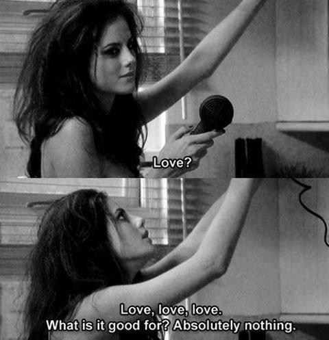 Je ne voulais pas un monde parfait, juste ton amour, ce qui revient au même.