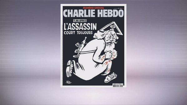 """Un """"Dieu assassin"""" à la Une de Charlie Hebdo"""