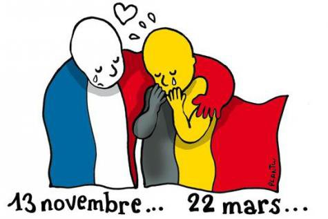 L'hommage des dessinateurs après les attentats de Bruxelles