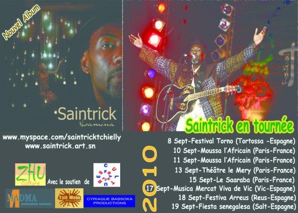 """SAINTRICK en tournée européenne 2010 & Nouvel album """"NSAMINA"""""""