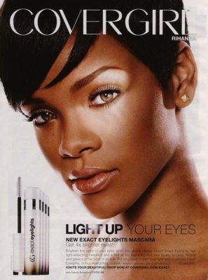 photo de Rihanna pour la pub du mascara Cover girls