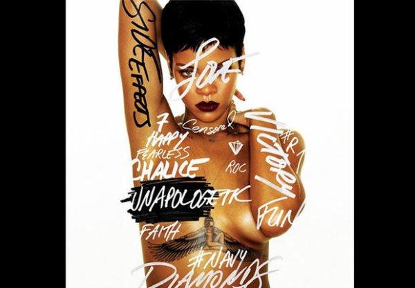 Rihanna dévoile tout La chanteuse pose topless sur la couverture de son nouvel album