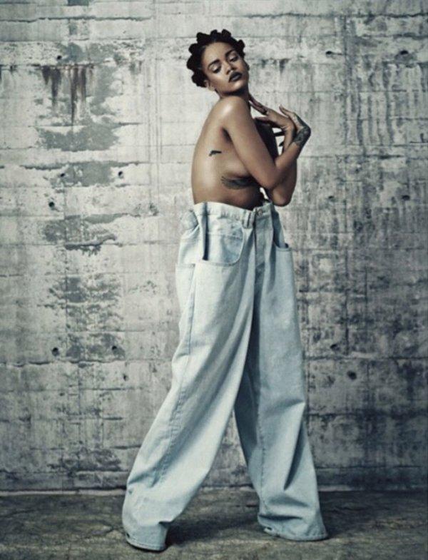 Rihanna dévoile une nouvelle coiffure Old-School pour i-D Magazine !