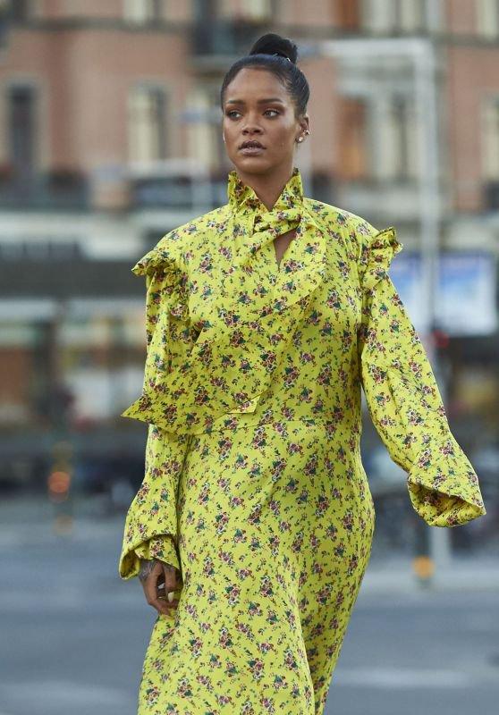 Rihanna dans les rues de Stockholm