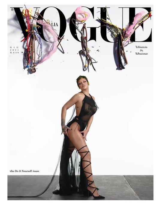 Rihanna pose pour vogue Italie