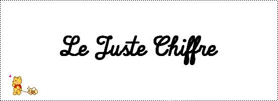 Le Juste Chiffre
