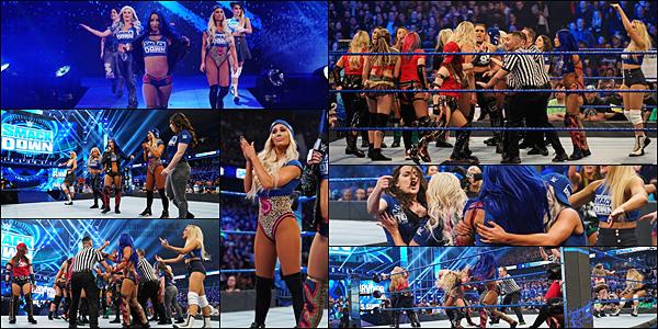 - -• 22/11/19-- : L'équipe de SmackDown, dont Carmella, fait face à celle de NXT et celle de Raw dans un énorme brawl. Toutes les femmes des trois équipes se sont battues autour et dans le ring dans une énorme bagarre. Vivement ce week-end pour Survivor Series ! -
