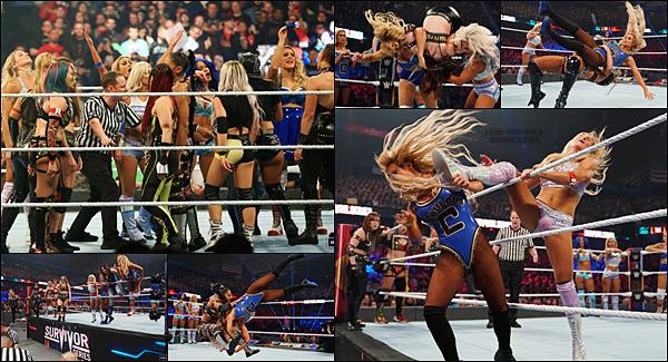 - -• 24/11/19-- : Carmella est présente lors du PPV Survivor Series représentant SD pour se battre avec ses teammates. Le match a été long et très intense. Malheureusement pour notre princesse, elle a été éliminée par Charlotte Flair de Raw avec un Natural Selection. -