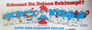 1983-1984   PARADE DES SCHTROUMPFS-ERKENNST DU DEINEN SCHLUMPF ? (Allemand)