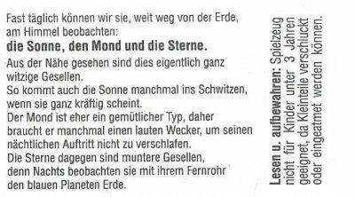 SONNE MOND UND STERNE... ÜBER DEN WOLKEN 1994-2000 (Allemand)