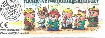 KLEINE VERWANDLUNGSKÜNSTLER 1997 - PERSONNAGES  2000 K.00