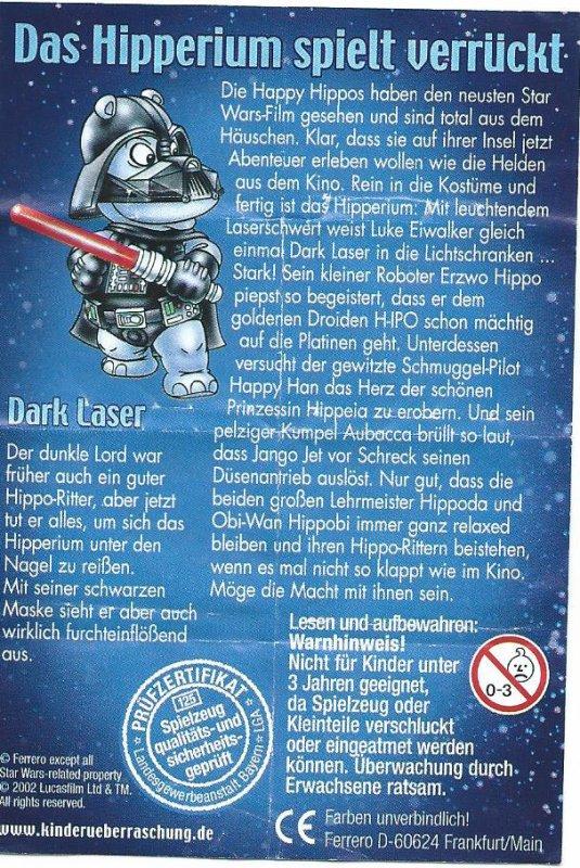 DAS HIPPERIUM SPIELT VERRÜCKT / STAR WARS 2002 (Allemand)