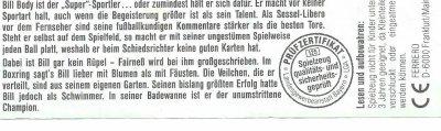 "BILL BODY DER ""SUPER""SPORTLER 1993 (Allemagne)"
