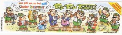 TOP TEN TEDDIES 1995 (Allemagne)