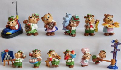 DIE TOP TEN TEDDIES IN VOLKSFESTSTIMMUNG 1996 (Allemagne)