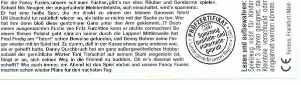 FANCY FUXIES 1998 (Allemand)