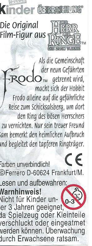 HERR DER RINGE II- DIE ZWEI TÜRME 2002 (Allemand)