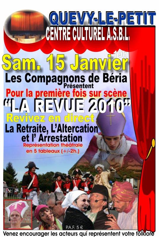 15 JANVIER 2011 AU CENTRE CULTUREL DE QUEVY LE PETIT