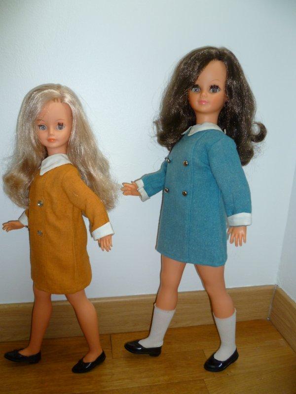 Duo Betsie/Cathie en tenue de présentation 1968...Drôles de dames....
