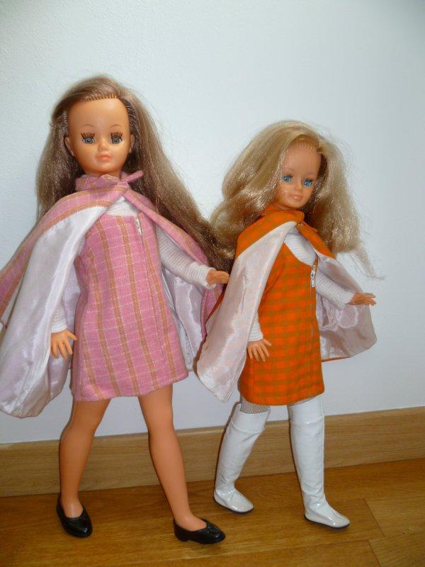 Duo Betsie/Cathie en tenue Picadilly 1968