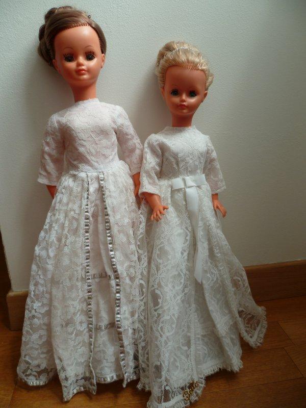 Drôles de dames...Duo Betsie/Cathie en Robe de Mariée 68/69