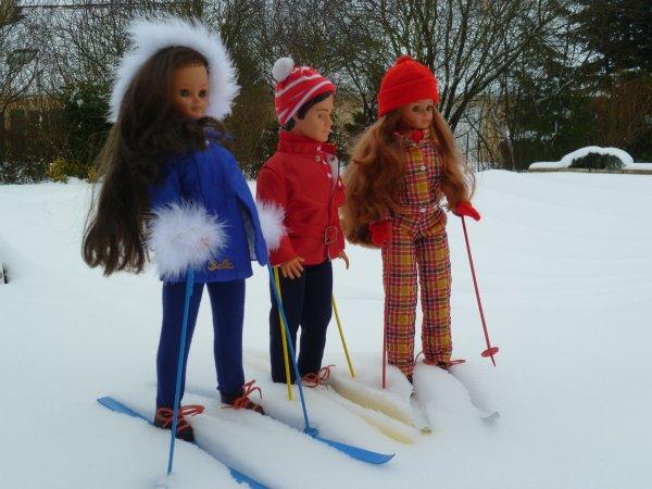 Quelle neige!!!! Activités sportives pour Cathie aujourd'hui!