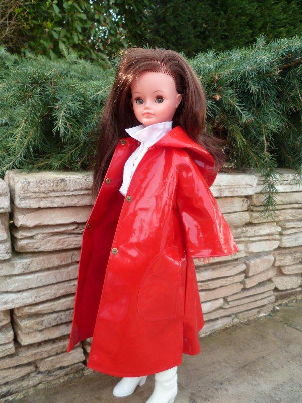 Il Pleut!Cathie en tenue Giboulée!
