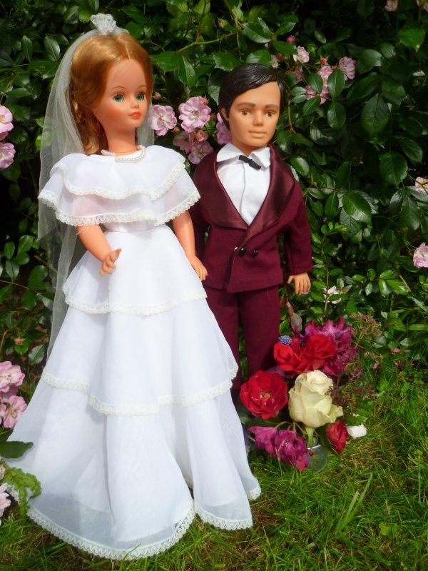 Cathie en Tenue de Mariée 1983