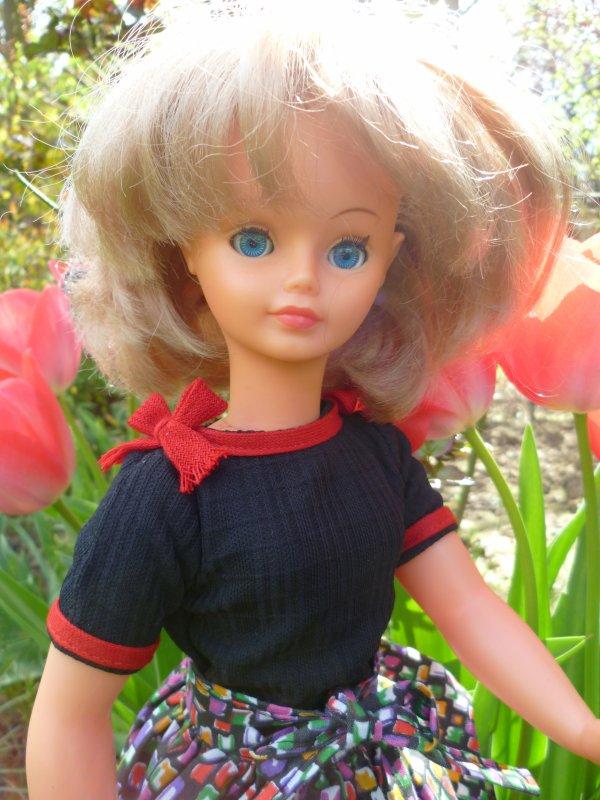 Dans les tenues légères,Cathie en tenue St Tropez 1980