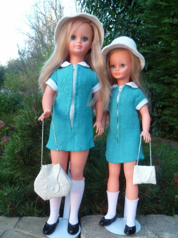 Tendre Duo:Betsie et Cathie en Tenue jumelle 1968