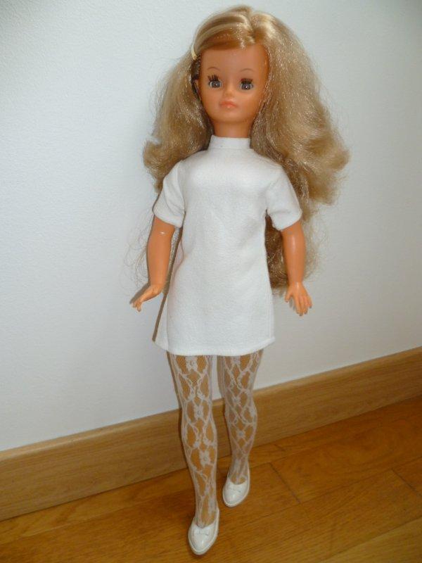 Cathie blonde collants dentelle