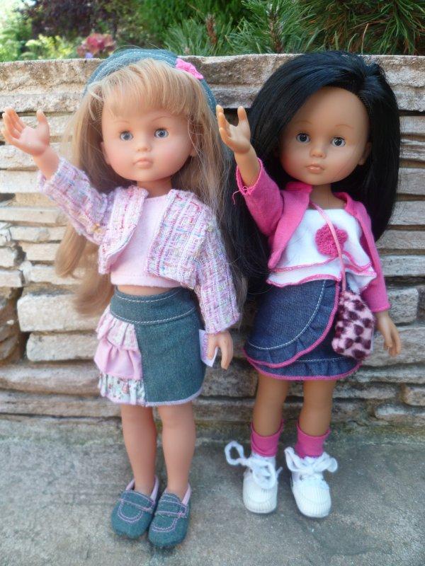 Petit tour au jardin pour les chéries Camille et Cathy