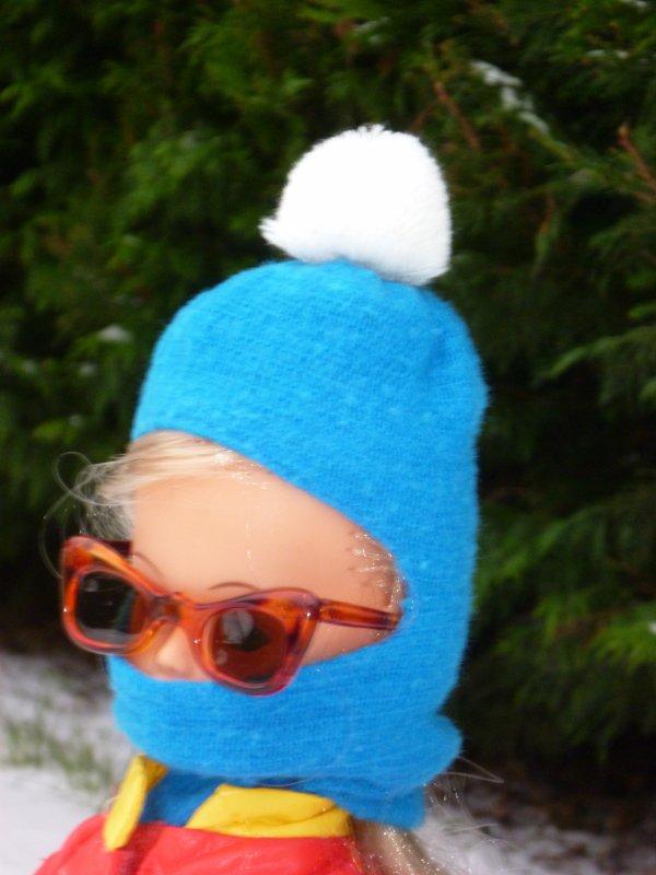 Cathie,en tenue Baccara, a enfin pu tester ses skis!