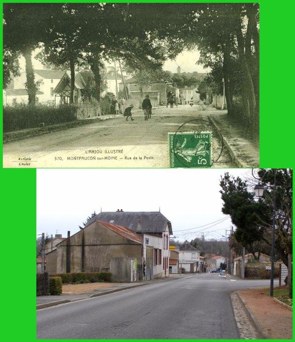 Montfaucon sur Moine, Photo d'hier..., photo d'aujourd'hui... (6)