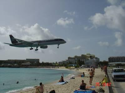 Arrivée du Boeing 757-200 d'U.S Airways