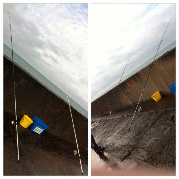 Pêche à la digue le 5 janvier 2014