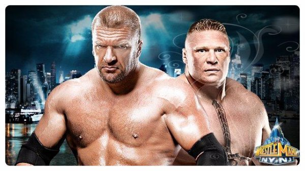 WrestleMania 29 - No Holds Barred Match, TRIPLE H vs Brock Lesnar / Si Brock Lesnar gagne, Triple H devra prendre sa retraite