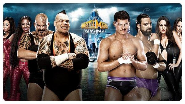 WrestleMania 29 - TONS OF FUNK & THE FUNKADACTYLS vs Team Rhodes Scholars & The Bella Twins