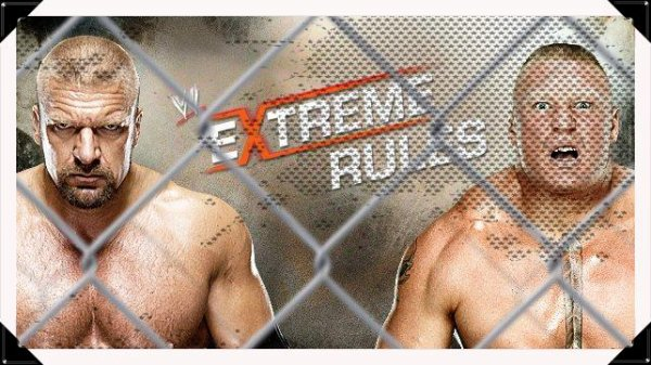 Extreme Rules 2013 - Steel Cage Match, TRIPLE H vs Brock Lesnar