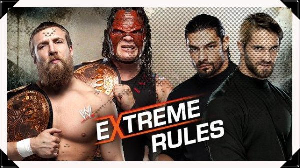 Extreme Rules 2013 - WWE Tag Team Championship, TEAM HELL NO vs The Shield's Reigns & Rollins / Tag Team Tornado Match