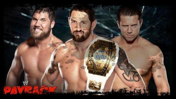 Payback 2013 - Intercontinental Championship, Wade Barrett vs Curtis Axel vs The Miz