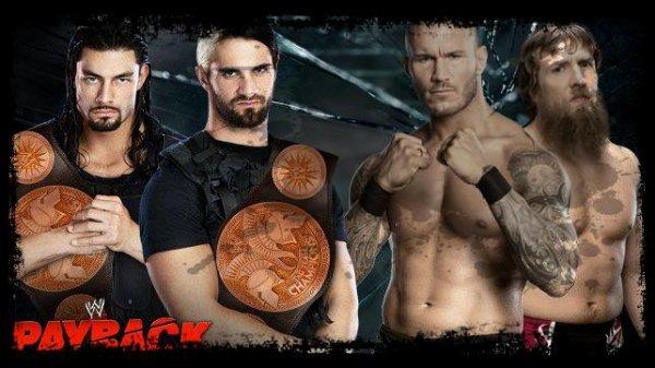 Payback 2013 - WWE Tag Team Championship, Seth Rollins & Roman Reigns vs RANDY ORTON & DANIEL BRYAN