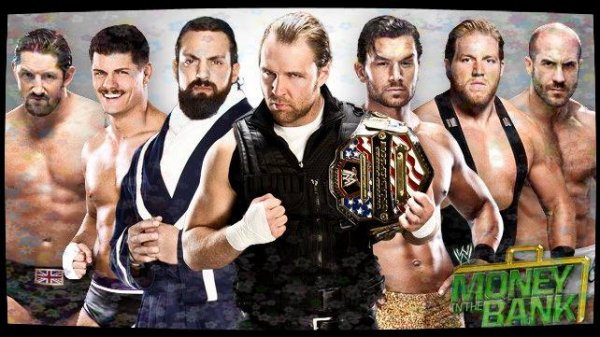 Money in the Bank 2013 - World Heavyweight Championship Contract Money in the Bank Ladder Match, Dean Ambrose vs Fandango vs Damien Sandow vs Jack Swagger vs Cody Rhodes vs ANTONIO CESARO vs Wade Barrett